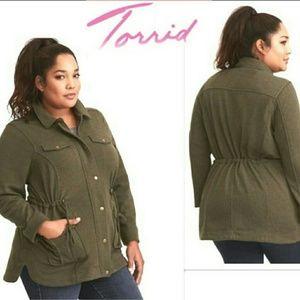 Torrid Dark Green Utility jacket